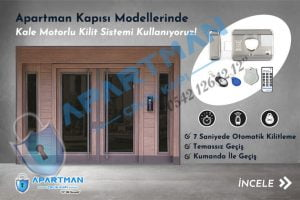 Apartman Kapısı Modelleri İndirimli Bina Kapısı Fiyatları Özel Tasarım Çelik Kale Motorlu Kilit